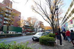 TOKYO - NOVEMBER 24: Folk som shoppar på Omotesando Hills Arkivbild