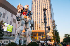 TOKYO- NOVEMBER 28 2015:Gundum Robot at DIver city department st Royalty Free Stock Photography