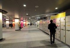 TOKYO - NOVEMBER 23: Locker in Tokyo Shibuya station on November Royalty Free Stock Images
