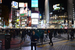 TOKYO - NOVEMBER 28: Pedestrians at the famed crossing of Shibuy Royalty Free Stock Photos