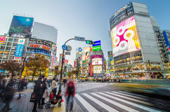 TOKYO - NOVEMBER 28: Pedestrians at the famed crossing of Shibuy Stock Photography