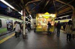 TOKYO - NOVEMBER 23: spitsuur bij het Shinjuku-station in Tokyo stock afbeeldingen