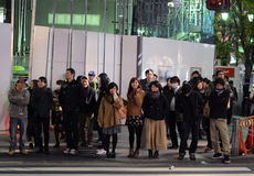 TOKYO - NOVEMBER 23: Street life in Shinjuku November 23 2013. Royalty Free Stock Photo