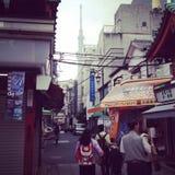 Tokyo och skytree royaltyfri bild