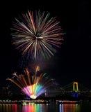 Tokyo odaiba bay fireworks Royalty Free Stock Photography