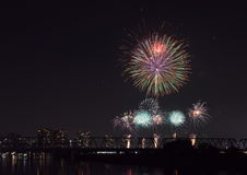 Tokyo odaiba bay fireworks Stock Images