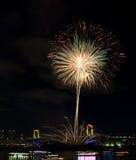 Tokyo odaiba bay fireworks Stock Image