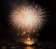 Tokyo odaiba bay fireworks Stock Photography