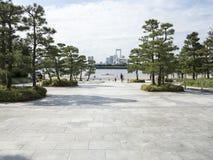 Tokyo Odaiba beach promenade Royalty Free Stock Images