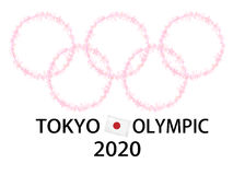 Tokyo Olympic background Stock Photography