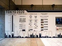 Tokyo olympisch und Spielausstellung Paralympic 2020 in Tokyo Metr lizenzfreie stockfotos