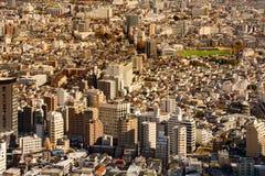 Tokyo overvolle woonplaats de stad in Stock Fotografie