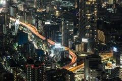 Tokyo på nätterna Royaltyfria Foton