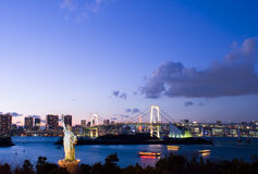 Tokyo på natten Arkivbilder
