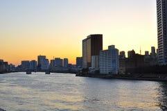Tokyo på solnedgången Arkivbilder