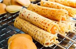 Tokyo Pancake Sausage. Stock Photo