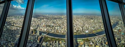 Tokyo panorama royaltyfri bild