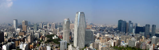 Tokyo panoramic view. All you can strech your eyes you can see the city - Tokyo. 12 million people living in Tokyo and the number is increasing each day, makes Royalty Free Stock Image