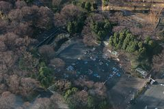 Tokyo park aerial photo royalty free stock photo