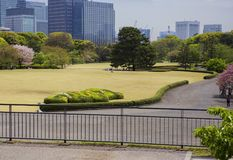 Tokyo. Park of the Imperial Palace. Stock Photos