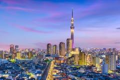 Tokyo, paysage urbain du Japon Image libre de droits