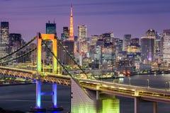 Tokyo, paysage urbain du Japon Photo libre de droits