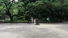 Tokyo. People walk and enjoy nice weather at Ueno park Tokyo stock video