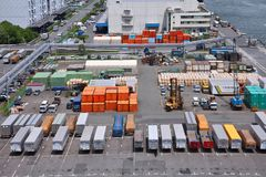 Tokyo port Royalty Free Stock Photos