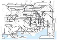 Tokyo Public Transport Scheme Royalty Free Stock Image