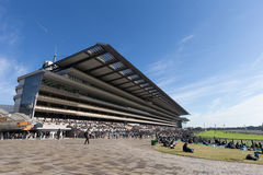 Tokyo Racecourse in Japan. General view of Tokyo Racecourse is located in Fuchu, Tokyo, Japan. Tokyo Racecourse hosts numerous G1 Grade 1 races, including the Stock Photography