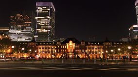 Tokyo railway station in the night