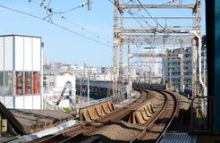 Tokyo railway transportation Stock Photo