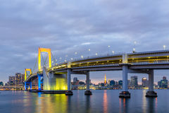 Tokyo Rainbow bridge in Japan. Royalty Free Stock Images