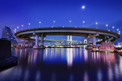 Tokyo Rainbow Bridge Loop Stock Photography