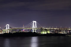Tokyo Rainbow Bridge at Night Stock Images