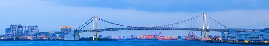 Tokyo rainbow bridge and Tokyo bay area Stock Images