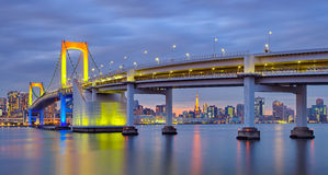 Tokyo rainbow bridge and Tokyo tower Stock Photo