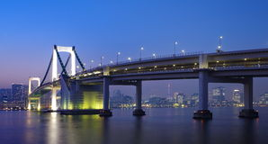 Tokyo rainbow bridge Royalty Free Stock Photography