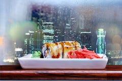 Tokyo restaurant rolls Royalty Free Stock Images