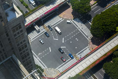Tokyo Road Junction Viewed from a Tall Skyscraper Stock Image