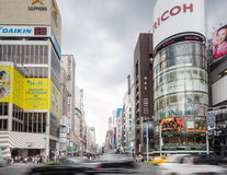 Tokyo rush in Ginza district Stock Photo