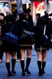Tokyo School Girls. School girls with short skirts Royalty Free Stock Photos