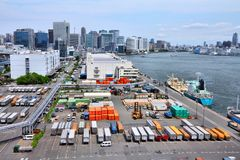 Tokyo seaport Royalty Free Stock Images