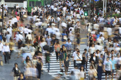 Tokyo Shibuya Crossing - long exposure Royalty Free Stock Photography