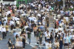 Tokyo Shibuya korsning - lång exponering Royaltyfri Fotografi