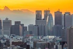 Tokyo Shinjuku with Fuji Stock Photos