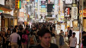 Tokyo Shinjuku by night - a busy place for nightlife - TOKYO, JAPAN - JUNE 17, 2018. Tokyo Shinjuku by night - a busy place for nightlife - TOKIO, JAPAN - JUNE stock video footage