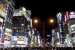 Tokyo Shinjuku at night. Tokyo Shinjuku of Japan's crowded Royalty Free Stock Image