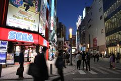 Tokyo shopping royalty free stock photography