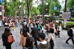 Tokyo shopping Royalty Free Stock Images
